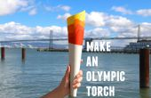 Olympische fakkel papercraft