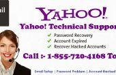 Yahoo Mail wachtwoord herstel technische ondersteuning 1-855-720-4168