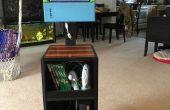 Gaming Station van gerecycled Laptop scherm en oud hout