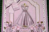 Hoe te maken van een stijlvolle Lila jurk Decoupage 8 inch kaart & invoegen