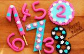 How to Make Fondant nummers voor Cake van de kindverjaardag