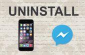Verwijderen van Facebook messenger op Mobile App