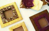 DIY Foto Frame van karton en chocolade Wrappers