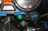 Motorfiets Voltmeter