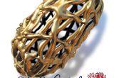Maken van een gouden filigraan Dragon's Eggcase