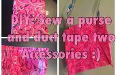 Naai een tas en twee Duct Tape toebehoren