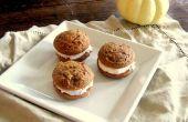 Pumpkin Spice Whoopie Pies met kaneel roomkaas Frosting