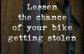 Verminderen van de kans van uw fiets diefstal