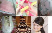 DIY bruiloft Planner boek - uitnodiging - gunst vak - schoenen - Cake - Hairbump - Tips