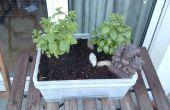 Zelf gieter Mini tuin