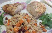 Zoete aardappel Pilaf met Cranberries en pecannoten