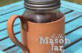Lederen Mason Jar mok Coozie!