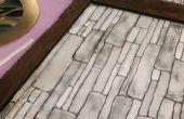 Faux schuim gevels: Houten planken en stenen muren