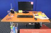 Netjes uw bureau met behulp van alleen uw briefpapier
