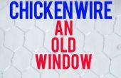Kippengaas een oude venster