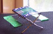 Miniatuur picknicktafel met behulp van gom wrappers