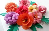 DIY papier bloemen (opvouwbaar trucs)