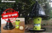 Maken van een Halloween heksen hoed Vogelhuis/waterbak