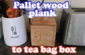 Pallet plank theezakje vak
