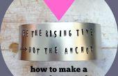 Hoe maak je een metaal gestempeld Manchet armband