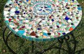 Zee glas mozaïek tafelblad