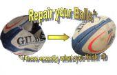 Repareren van een beschadigde bal en upgraden naar een praktijk bal voor opleiding uithoudingsvermogen en kracht