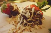Chocolade kokos Rum gedekt aardbeien