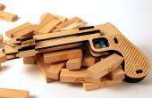 Houten Laser gesneden Jenga pistool