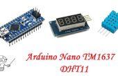 Arduino Nano TM1637 4-cijferige Display DHT11 temperatuur vochtigheid Sensor