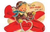 Aftelkalender voor Valentijnsdag Vintage kaart