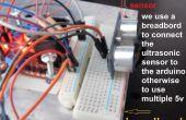 Vermijden obstakels robot met L298N Dual H-Bridge motorcontroller en ultrasone sensor