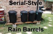 Seriële-stijl regen vaten