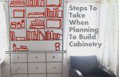 Stappen te nemen bij het plannen om te bouwen van kasten en boekenplanken