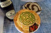 Geschilderd Ierse vlees taart