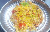 Indische gepofte rijst-Bhel Puri