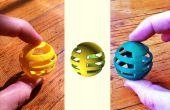 Uit atomen naar bits ter atomen: OpenSCAD leren door te kopiëren van een kat speelgoed