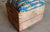 Geregenereerde houten verzending kist in Rolling stoel met opslag