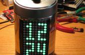 Gebouw IllyClock - alarmklok Arduino gebaseerde in een koffie kan