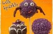 Spider Cake Pops met fonkeling