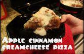 Diepe schotel appel-kaneel dessert pizza