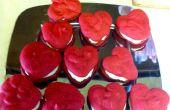 Red Velvet hart vormige Whoopie Pies