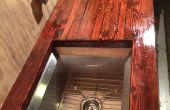 Teruggewonnen hout Bartop
