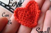 Liefde kunnen klein: Toon uw liefde zet in een kleine haak hart.