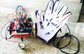 Papier, potlood, een handschoen met touchsensing en een draadloze robot!!