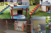 Zonne-verlicht dak dek hondenhok