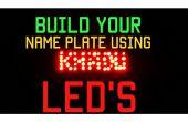 Naam van de plaat met behulp van LED's