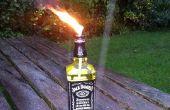 Jack Daniels brander (geïnspireerd door tjesse de glazen fles Tiki Toorts)