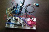 Digitale klok RTC in LED-scherm van 4 cijfers en 7 segmenten