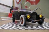 Vintage koplampen en achterlichten voor Pinewoood Derby Car