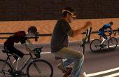 Virtuele uitoefening fiets Race